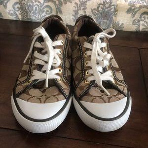 Coach, Barrett Brown sneakers sz 6.5, very clean